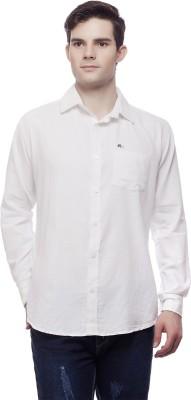 Akara Men's Solid Casual White Shirt