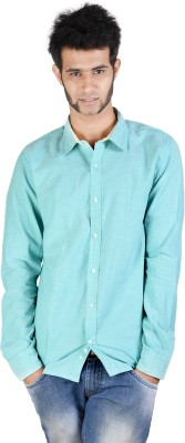 Corpus Men's Solid Casual Light Green Shirt