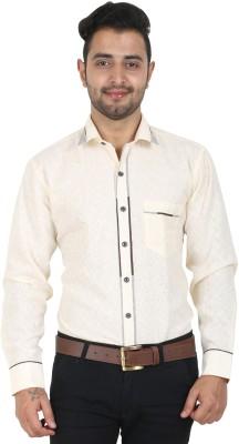 Crocks Club Men's Solid Party Beige Shirt