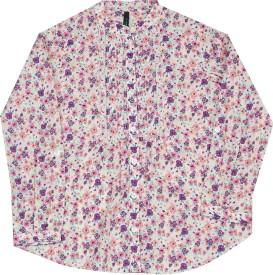 United Colors of Benetton Girls Printed Casual Multicolor Shirt