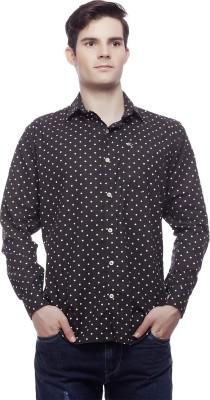 Akara Men's Printed Casual Black Shirt