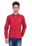 Nexq Men's Solid Casual Red Shirt