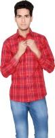 Creative Fashion Formal Shirts (Men's) - Creative Fashion Men's Printed Formal Red Shirt