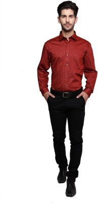 Miche Jeffer Men's Printed Casual Red Shirt