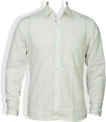 Chhipa Prints Men's Solid Formal White Shirt