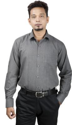Bellavita Men,s Solid Formal Grey Shirt
