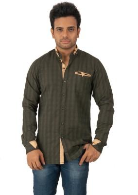 Z-Plus Men's Solid Casual Green Shirt