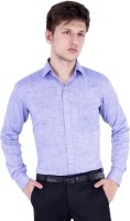 Vaitolua Formal Shirts (Men's) - Vaitolua Men's Solid Formal Blue Shirt