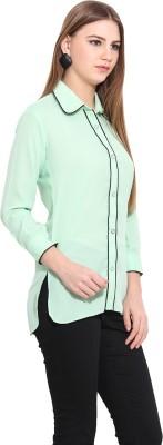 Desi Urban Women's Printed Casual Green Shirt