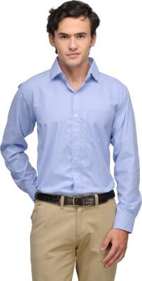 V2k Fashion Men's Striped Formal Blue Shirt
