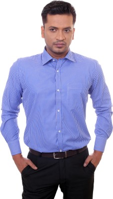 Countryside Men's Checkered Formal Blue Shirt