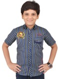 Little Dabang Boys Striped Casual Blue S...