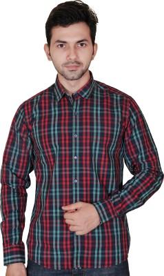 Fabrobe Men's Checkered Casual Red, Green, Black Shirt