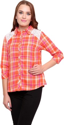 Famous by Payal Kapoor Women's Checkered Casual Multicolor Shirt