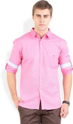 Bay Ridge Men's Solid Casual Pink Shirt