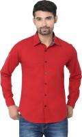 Stylox Formal Shirts (Men's) - Stylox Men's Solid Formal Maroon Shirt