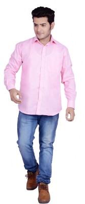 Buransh Men's Solid Formal Pink Shirt