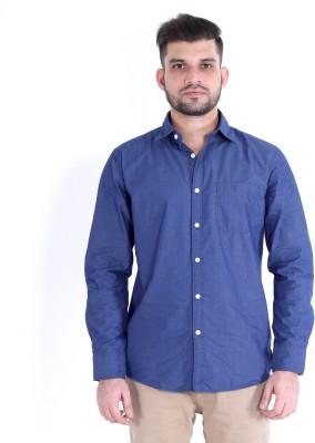 RJ MODA Men's Solid Formal Dark Blue Shirt