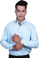 Alark The Ethnic Formal Shirts (Men's) - Alark The Ethnic Men's Self Design Formal Blue Shirt