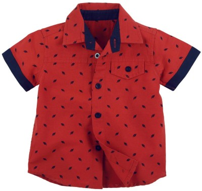 Fisher-Price Boy's Printed Casual Red Shirt