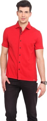 Smokestack Men's Solid Casual Red Shirt