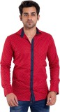 Lime Time Men's Printed Casual Red Shirt