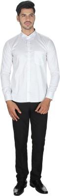 Shaurya-F Men's Printed Casual White Shirt
