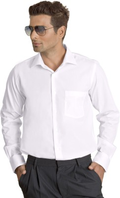 Willmohr Men's Solid Formal White Shirt