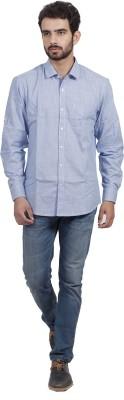 Mild Kleren Men's Self Design Casual Light Blue Shirt