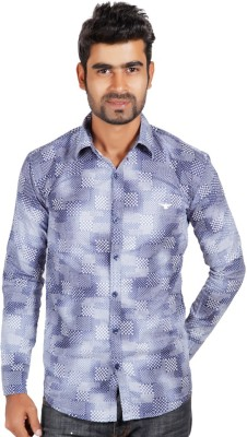 Alley Brothers Men's Printed Casual Multicolor Shirt