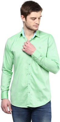 Rodamo Men,s Solid Casual Green Shirt