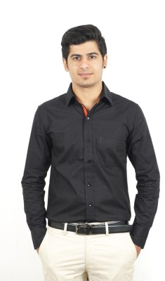 Swagger Men's Solid Casual Black Shirt