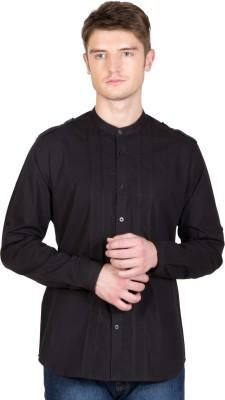 NFC Men's Solid Casual Black Shirt