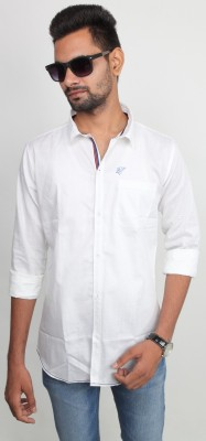 Beyond Imagination Men's Solid Casual White Shirt