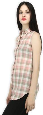20 Dresses Women's Checkered Casual Pink, Grey, White Shirt