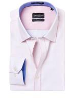 Invictus Formal Shirts (Men's) - Invictus Men's Self Design Formal Pink Shirt