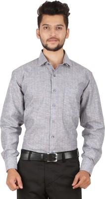 Stylo Shirt Men's Striped Formal Grey Shirt