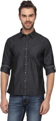 T-Base Men's Solid Casual Black Shirt