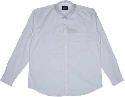 Esoft Men's Solid Casual White Shirt