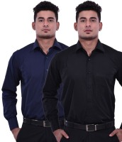 Vkg Formal Shirts (Men's) - VKG Men's Solid Formal Multicolor Shirt(Pack of 2)