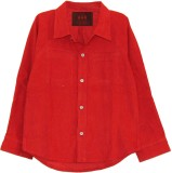 My Little Lambs Boys Solid Casual Red Sh...