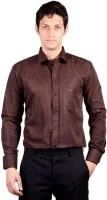 Bnzei Formal Shirts (Men's) - BNZEI Men's Solid Formal Brown Shirt
