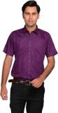 Mild Kleren Men's Solid Formal Purple Sh...