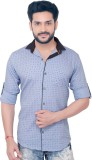 Goplay Men's Solid Casual Light Blue Shi...