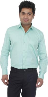 Aces Blue Men's Solid Formal Green Shirt
