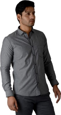 Easies Men's Solid Casual Grey Shirt