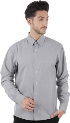 Cotton Clubs Men,s Solid Formal Grey Shirt