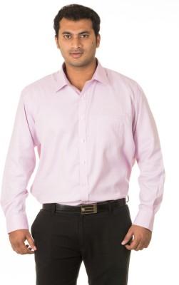 West Vogue Men's Solid Formal Pink Shirt