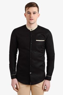 Alvin Kelly Men's Solid Casual Black Shirt
