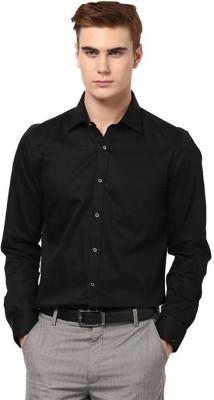 Vkg Men's Solid Formal Black Shirt
